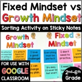 Growth Mindset Sort Activity with STICKY NOTES
