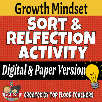 Growth Mindset Sort and Reflection Activity