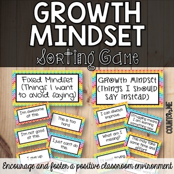 Growth Mindset Sorting Game - Back to School Essential