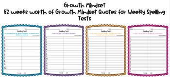 Growth Mindset Spelling Test