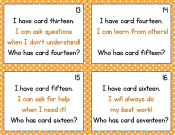 Growth Mindset I Have/Who Has Cards