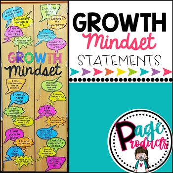 Growth Mindset Statements Bulletin Board