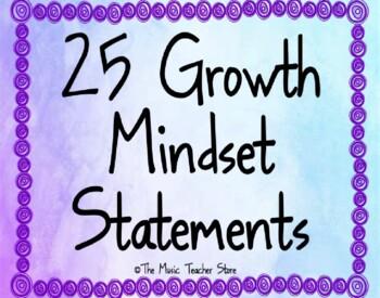 Growth Mindset Statements Poster Set