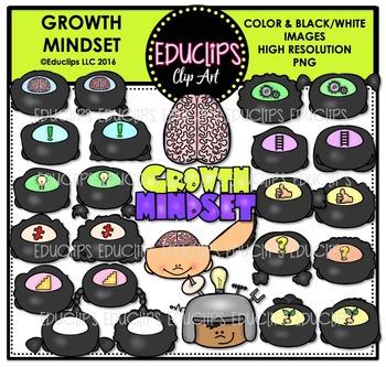 Growth Mindset - States Of Mind Symbols Clip Art Bundle {Educlips Clipart}
