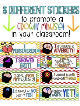 Growth Mindset Stickers