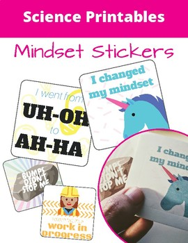Growth Mindset Stickers - Science Printables