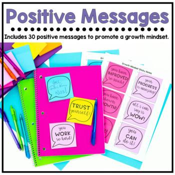 Growth Mindset Sticky Notes