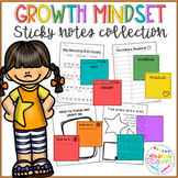 Growth Mindset Sticky Notes Collection and Worksheets