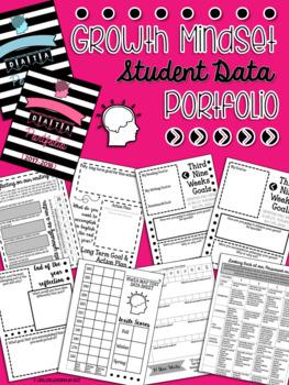 Growth Mindset Student Data & Goal Setting Portfolio