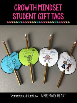 Growth Mindset Student Gift Tags