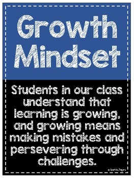Growth Mindset- Student Made Posters, 18 Quotes