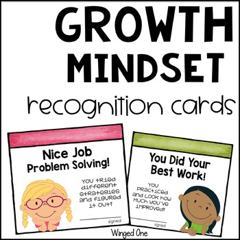 Growth Mindset Student Recognition Cards