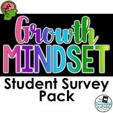 Growth Mindset Student Survey Pack