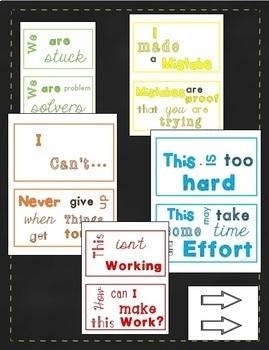 Growth Mindset Subway Art Bulletin Board