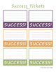 Growth Mindset Success Tickets FREE Printable in Color and Black and White