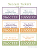 Growth Mindset Success Tickets FREE Printable in Color and