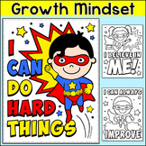 Growth Mindset Superhero Coloring Pages