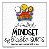 Growth Mindset Syllable Sorts