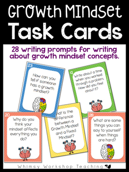 Growth Mindset TASK CARDS for students