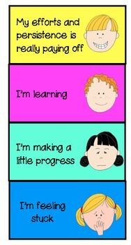 Growth Mindset Table Student Rubric