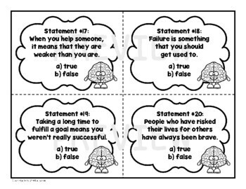 Growth Mindset Task Card Set
