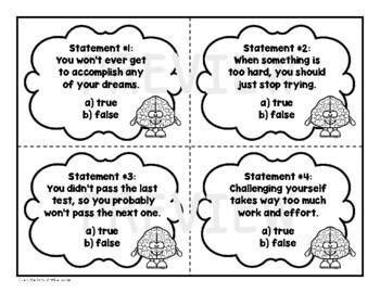Growth Mindset Task Card Set