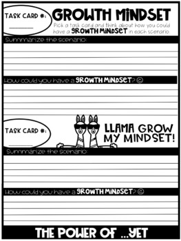 Growth Mindset Task Cards {Editable}