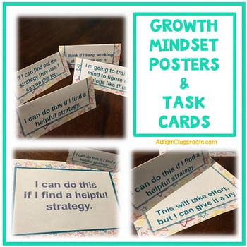 Growth Mindset Reminder Cards and Desk Tents