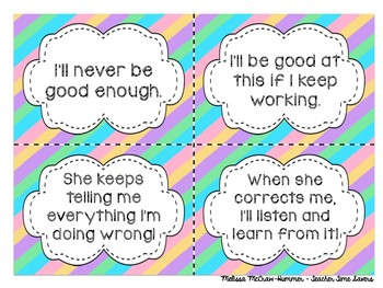 Growth Mindset Task Cards - Sorting Activity - Growth vs. Fixed