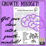 Growth Mindset Terms Word Search