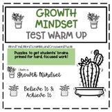 Growth Mindset Test Warm Up