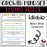 Growth Mindset Testing Poster