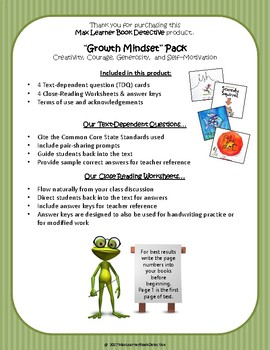 Growth Mindset Bundle: Text-Dependent Questions and More!