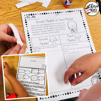 Growth Mindset The Dot Book Activities- PLUS Flipbook, Posters, & MORE