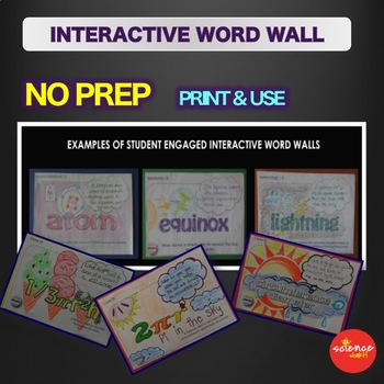 Science Bell Ringer Sun Interactive Word Wall Activity NO PREP
