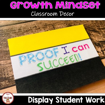Growth Mindset Theme Classroom Decor Bulletin Board Set-Up