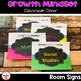Growth Mindset Theme Classroom Decor- Classroom Signs (Bright Colors)