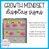 Growth Mindset Thinking Stems Bulletin Board Display