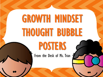 FREEBIE  Growth Mindset Thought Bubbles AND Posters!