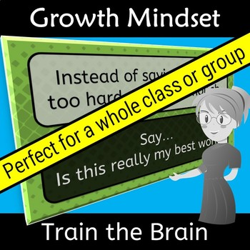 Growth Mindset Train the Brain Vocabulary Words
