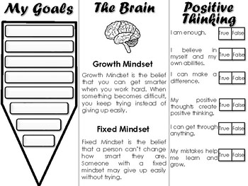 Growth Mindset Trifold - Social Emotional Learning
