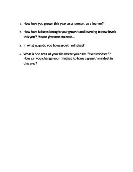 Growth Mindset Video Questions
