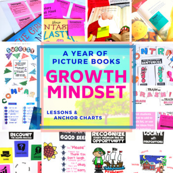 Growth Mindset BUNDLE Activities Anchor Chart Sticky Notes Printables