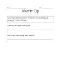 Growth Mindset Warm-up/Bell Ringer/Journal Prompts/ Homework