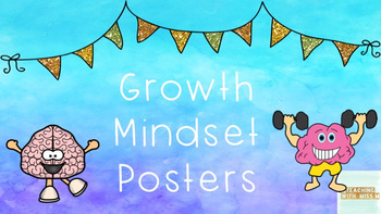 Growth Mindset Watercolour Posters