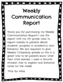 Growth Mindset Weekly Communication Form