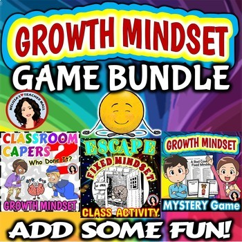 Growth Mindset Whole Class Game Activities BUNDLE