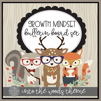 Growth Mindset Woodland Animal Bulletin Board Set