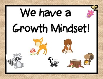 Growth Mindset- Woodland Animals Themed