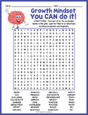 Growth Mindset Word Search